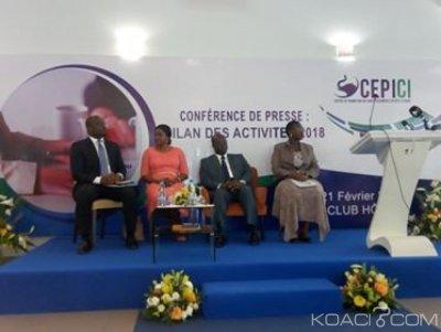 Côte d'Ivoire :  CEPICI, les créations d'entreprises en hausse de 26%, baisse du nombre d'emplois prévisionnels de 21 %