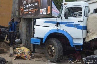 Côte d'Ivoire: À la zone industrielle de Yopougon, un gros camion de ciment  fait une sortie de route, 2 morts et 9 blessés