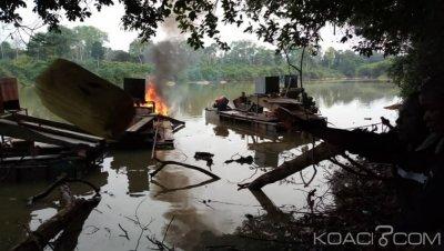 Côte d'Ivoire : Le matériel d'orpaillage clandestin détruit par la gendarmerie à Akoupé