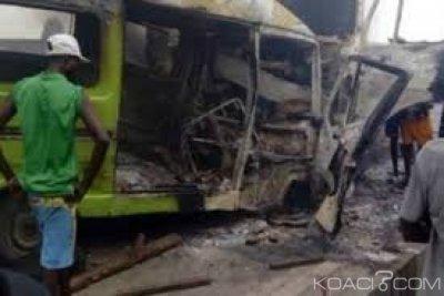 RDC  : Un camion d'acide percute un bus  dans le sud-est, 18 morts au moins  et 12 blessés