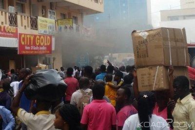 Ghana : Incendie au marché de Makola à Accra