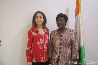Côte d'Ivoire : Paix et cohésion sociale, la SG de la Fondation de l'ex Premier ministre français, Jean-Pierre Raffarin chez Mariatou Koné