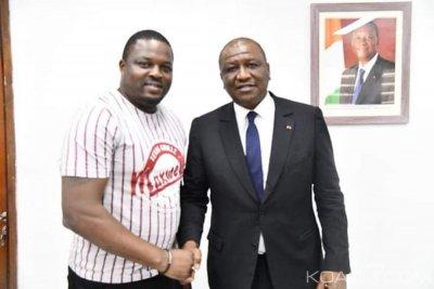 Côte d'Ivoire: Après Touré Mamadou, Hamed Bakayoko reçoit Maxwell Goris et l'encourage à créer «Abobo Grillz»