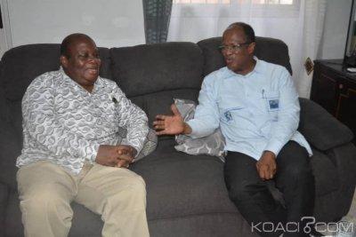 Côte d'Ivoire : De retour d'exil, Thomas N'Guessan reçoit la visite de Ouégnin «nous sommes venus pour renforcer la lutte et apporter notre contribution »