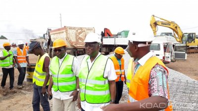 Côte d'Ivoire : Bouaké, pour le bitumage d'un axe de sa ville, Djibo Nicolas sur le terrain pour le contrôle