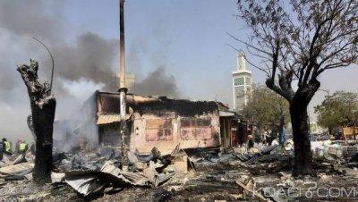 Sénégal : À Dakar, le marché Petersen réduit en cendre par un violent incendie, des mesures annoncées