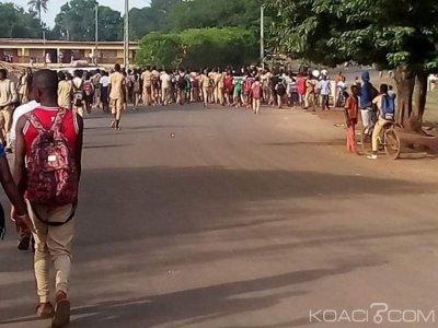 Côte d'Ivoire : Manifestation de rue d'élèves à Facobly pour réclamer la reprise des cours