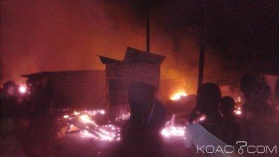Côte d'Ivoire : À Grand Lahou, l'ancien marché ravagé par un incendie