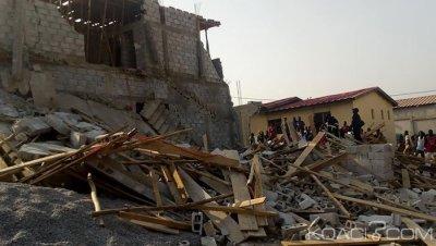 Côte d'Ivoire : L'effondrement d'un immeuble en construction fait un mort à Cocody