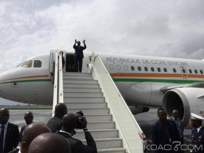 Côte d'Ivoire : Abidjan, après l'Assemblée nationale, Alassane Ouattara s'est envolé pour le Sénégal pour l'investiture de Macky Sall