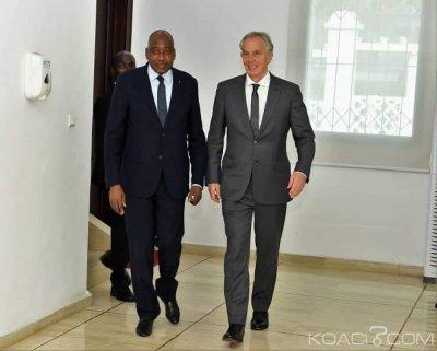 Côte d'Ivoire:  En visite à Abidjan, Tony Blair satisfait de la performance économique du pays