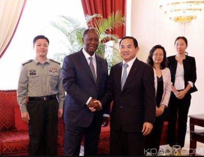 Côte d'Ivoire : L'Ambassadeur de Chine, TANG Weibin  fait ses adieux à Ouattara