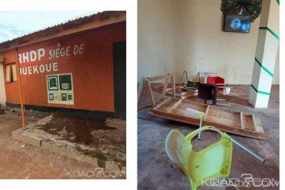 Côte d'Ivoire : À Duekoué, le siège du RHDP unifié saccagé, des partisans d'un député du parti cités