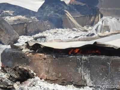 Côte d'Ivoire : Les baraques situées derrière l'hôpital mère-enfant sont parties en fumée, pas de perte en vie humaine