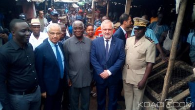 Côte d'Ivoire-France : Bouaké, sur le site du marché à construire, Huberson « je suis venu veiller à ce que les engagements pris soient tenus»