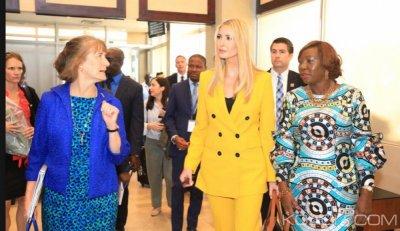 Côte d'Ivoire : La fille de Donald Trump, Ivanka est arrivée à Abidjan pour le sommet mercredi des femmes entrepreneurs