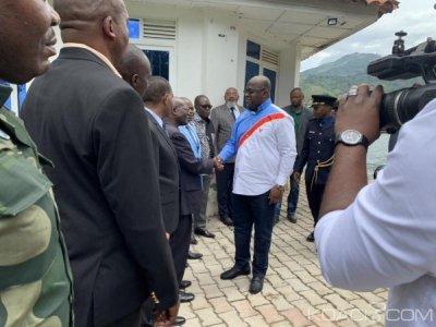 RDC  : Naufrage, Felix Tshisekedi arrive sur les lieux du drame et  décrète une journée de deuil national