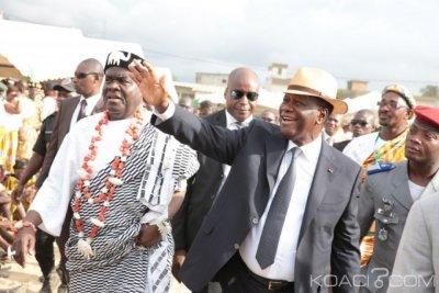 Côte d'Ivoire : Abidjan, Ouattara rencontre les Chefs Tchaman, Attié, de la région des Grands ponts et du Sud-Comoé