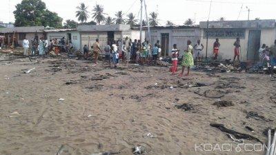 Côte d'Ivoire : Triste Pà¢ques à Marcory, un incendie ravage des stands lors des festivités de « paquinou »