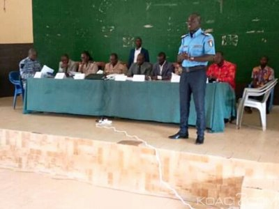 Côte d'Ivoire : Face aux nombreux accidents dans le Iffou, le préfet exige des forces de l'ordre la rigueur dans le travail
