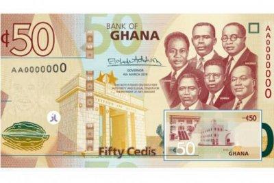 Ghana : Sortie de billets de Ghana cedi actualisés contre la contrefaçon