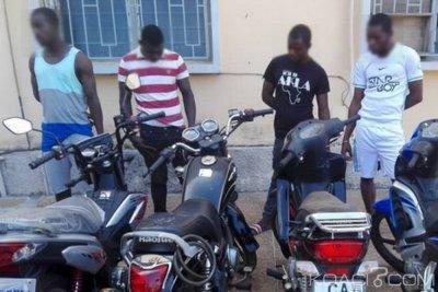 Togo : Quatre voleurs de motos arrêtés, leur astuce exposée