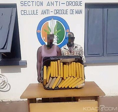 Côte d'Ivoire : Kouibly, dans sa lutte contre le trafic de stupéfiants, 2 personnes arrêtés et 23 kilogrammes de cannabis saisis par la cellule anti-drogue