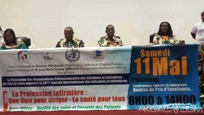 Côte d'Ivoire : Abidjan, les infirmiers plaident pour la libération de leurs deux collègues incarcérés à Gagnoa et la mise en place de leur Ordre national