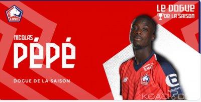 Côte d'Ivoire : Nicolas Pépé meilleur joueur de la saison des Dogues Lillois