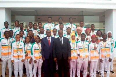 Côte d'Ivoire : Karaté et disciplines associées, après le sacre des éléphants karatéka au 18ème  championnat de l'UFAK, Amadou Soumahoro fait don de 5 millions de FCFA à la Fédération