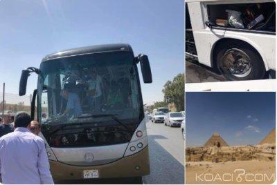 Egypte :17 blessés dont des sud africains dans l'explosion d'un car de touriste  près du Caire