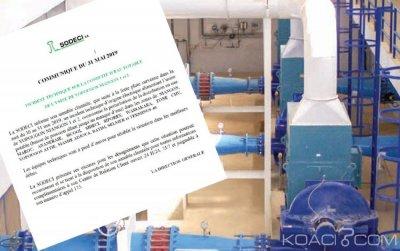 Côte d'Ivoire: Incident technique sur la conduite d'eau potable de l'usine de Yopougon Niangon 1 et 2, communiqué de la SODECI