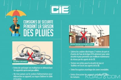 Côte d'Ivoire: Consignes de sécurité de la CIE