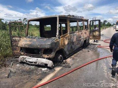 Côte d'Ivoire: Incendie d'un mini car, 03 morts et 20 blessés