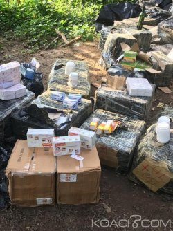 Côte d'Ivoire : À Aboisso, plus d'une tonne de faux médicaments saisis dans la brousse
