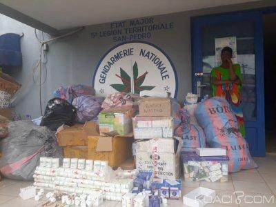 Côte d'Ivoire : Nouvelle saisie de médicaments prohibés dans un marché, une suspecte interpellée