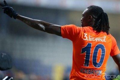 Togo : Adieux d'Adebayor aux supporters d'Istanbul Basaksehir et ses attentes