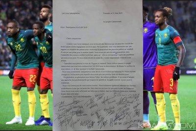 Cameroun: CAN Egytpte 2019, avant d'embarquer les lions écrivent et refusent toute ingérence durant la compétition