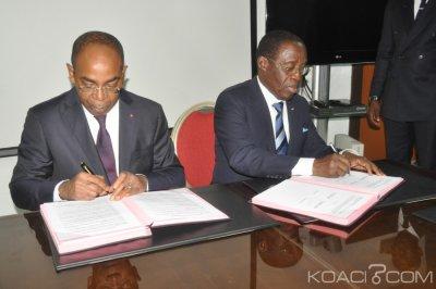 Côte d'Ivoire : Aka Aouélé et Claude Isaac Dé signent un partenariat dans le cadre du développement du E-santé