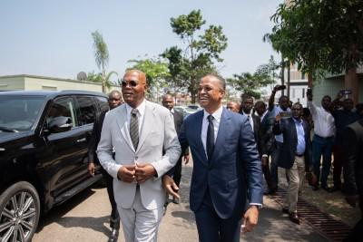 Gabon: Les ministres Franck Nguema, Lee White et Jean-Marie Ogandaga reçoivent en audience M. Samuel L. Jackson