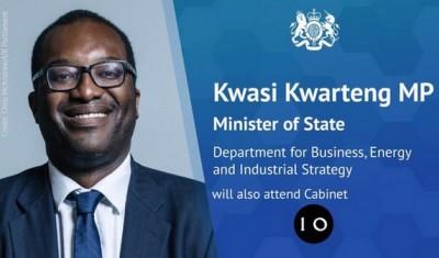 Ghana Royaume-Uni:  Le ghanéen Kwasi Kwarteng nommé ministre d'Etat par le nouveau PM Boris Johnson