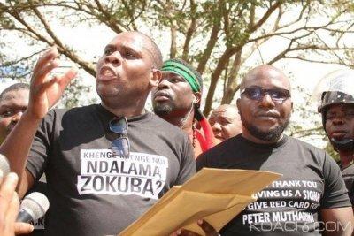 Malawi:  Deux responsables des manifestations post-électorales interpellés pour fraud...