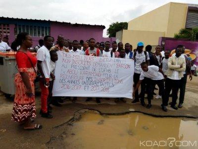 Cote d'Ivoire: A Cocody, la Fesci s'oppose à la « marche blanche » des étudiants non-inscrits de l'année universitaire 2017-2018, le chef de l'Etat appelé à la rescousse