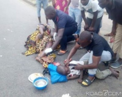 Côte d'Ivoire : A Abobo, un conducteur de « Gbaka » percute une femme handicapée et son enfant