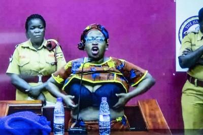 Ouganda: Condamnée à 18mois de prison pour harcèlement au Président, Stella Nyanzi dévoile ses seins