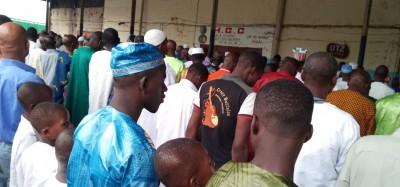 Côte d'Ivoire: A Man profitant de la fête de la Tabaski, des musulmans sensibilisent pour des élections apaisées en 2020