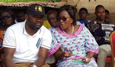 Côte d'Ivoire: A Agou, Blaise Lasm aux côtés d'Agnès Monnet appelle à la réconciliati...
