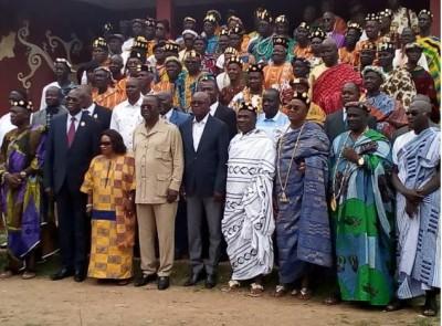 Côte d'Ivoire : A Dimbokro, Ahoussou « supplie » les chefs pour demander pardon à Béd...
