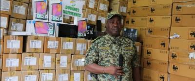 Côte d'Ivoire :  Fraude, plus de 35 000 portables de dernière génération saisis par les douanes ivoiriennes