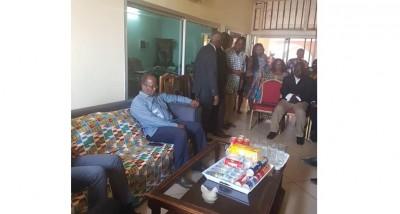 Côte d'Ivoire: Suite au décès de la mère de Dogbo Blé, Ouégnin auprès de la famille pour les condoléances de EDS